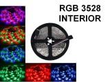 TIRA DE LEDS 3528 60 LED/M X 5 METROS INTERIOR RGB