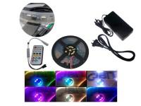 KIT TIRA DE LEDS 5050 RGB HC30 DREAM - COLOR CON CONTROL FUENTE TODO LISTO PARA ENCHUFAR A 220V