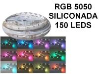 TIRA DE LEDS 5050 150  LEDS X 5 METROS EXTERIOR 12V RGB