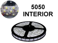 TIRA DE LEDS 5050 60 LED/M X 5 METROS INTERIOR 12V BLANCO FRIO