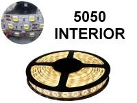 TIRA DE LEDS 5050 60 LED/M X 5 METROS INTERIOR 12V BLANCO CALIDO