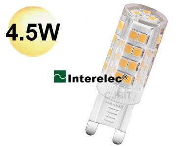 LAMPARA LED 4.5W 220V G9 INTERELEC BLANCO-CALIDO