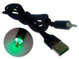 CABLE USB MALLADO DATOS Y CARGA CON LUZ VERDE