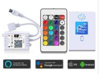 CONTROLADORA RGB WIFI CON CONTROL 24 TECLAS PARA TIRAS DE LEDS