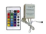 CONTROLADORA RGB CON CONTROL 24 TECLAS P/TIRA LED