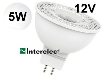 """DICROICA LED 5W 12V GU5.3 """"INTERELEC"""" BLANCO FRIO"""