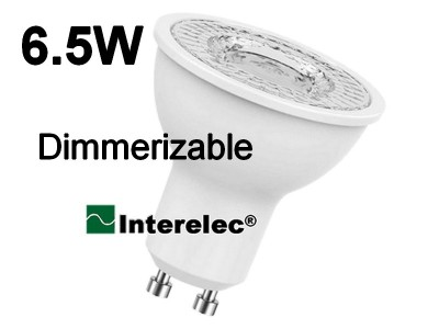 "DICROICA LED DIMERIZABLE 6.5W 220V GU10 ""INTERELEC"""