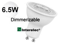 """DICROICA LED DIMERIZABLE 6.5W 220V GU10 """"INTERELEC"""" BLANCO FRIO/ LUZ DIA"""