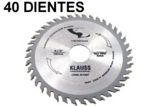 DISCO DENTADO DE WIDIA 40 DIENTES 115 MM