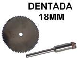 DISCO DENTADO PARA MINITORNO X3 18MM CON BASTAGO