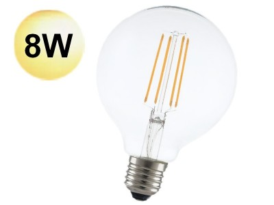 LAMPARA LED TIPO GLOBO FILAMENTO E27 G95 8W E27 DIMERIZABLE