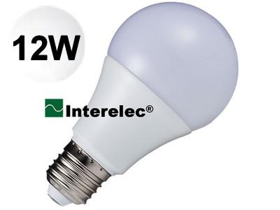 LAMPARA LED BULBO 12W 220V E27 INTERELEC BLANCO FRIO/ LUZ DIA