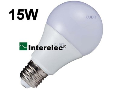 """LAMPARA LED BULBO 15W 220V E27 """"INTERELEC"""""""