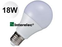 """LAMPARA LED BULBO 18W 220V E27 """"INTERELEC"""" BLANCO FRIO/ LUZ DIA"""