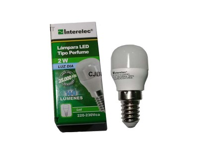 "LAMPARA LED TIPO PERFUME 2W 220V E14 ""INTERELEC"""