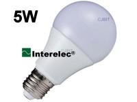 """LAMPARA LED BULBO 5W 220V E27 """"INTERELEC"""""""
