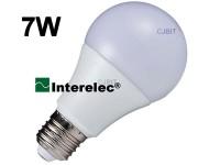 """LAMPARA LED BULBO 7W 220V E27 """"INTERELEC"""""""