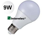 """LAMPARA LED BULBO 9W 220V E27 """"INTERELEC"""" BLANCO FRIO/ LUZ DIA"""