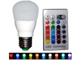 LAMPARA LED RGBW 5W 220V E27 CON CONTROL REMOTO
