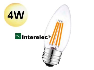 "LAMPARA FILAMENTO LED 4W 220V E27 ""INTERELEC"""