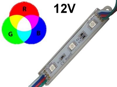MODULO DE 3 LEDS APTO PARA USO EN EXTERIOR RGB