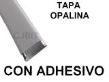 PERFIL DE PVC PARA TIRA DE LEDS X 2 METROS CON ADH