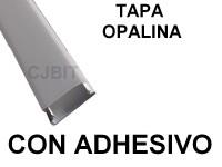 PERFIL DE PVC PARA TIRA DE LEDS X 2 METROS CON ADHESIVO TAPA OPALINA