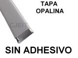 PERFIL  DE PVC PARA TIRA DE LEDS X 2 METROS SIN AD
