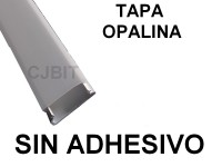 PERFIL  DE PVC PARA TIRA DE LEDS X 2 METROS SIN ADHESIVO TAPA OPALINA
