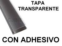 PERFIL DE PVC PARA TIRA DE LEDS X 2 METROS  CON ADHESIVO TAPA TRANSPARENTE