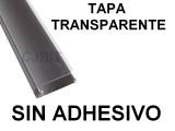 PERFIL DE PVC PARA TIRA DE LEDS X 2 METROS SIN ADH