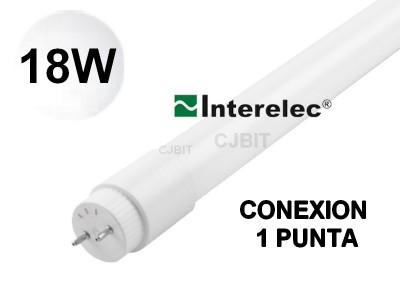 TUBO LED T8 18W VIDRIO CONEXIÓN EN 1 PUNTA BLANCO FRIO/ LUZ DÍA