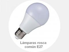 Lámparas rosca común E27
